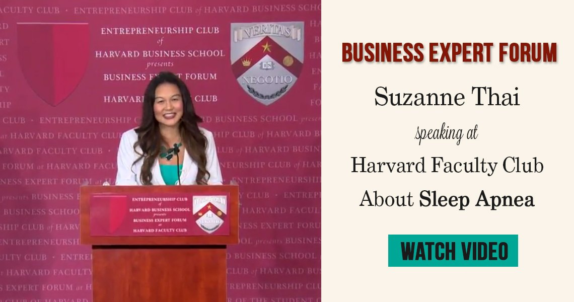 Suzanne Thai of Swisher Dental speaking at Business Expert Forum at Harvard Faculty Club